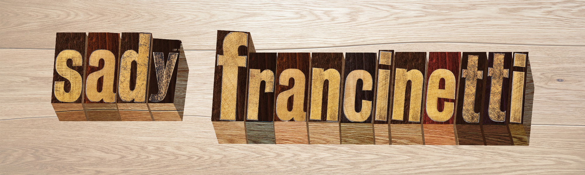 tipografia sady francinetti