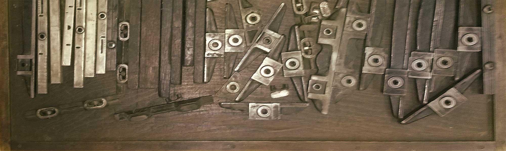 cassa serraforme - tipografia sady francinetti