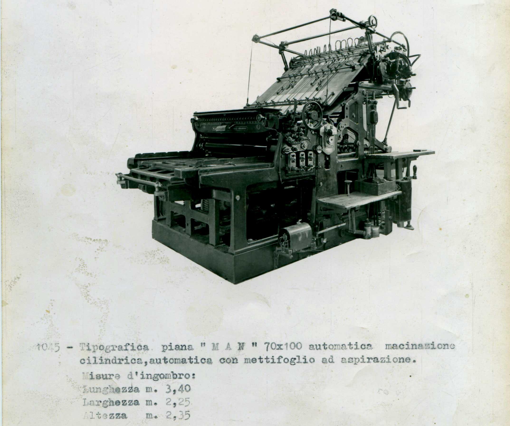 macchina da stampa vecchia - tipografia sady francinetti